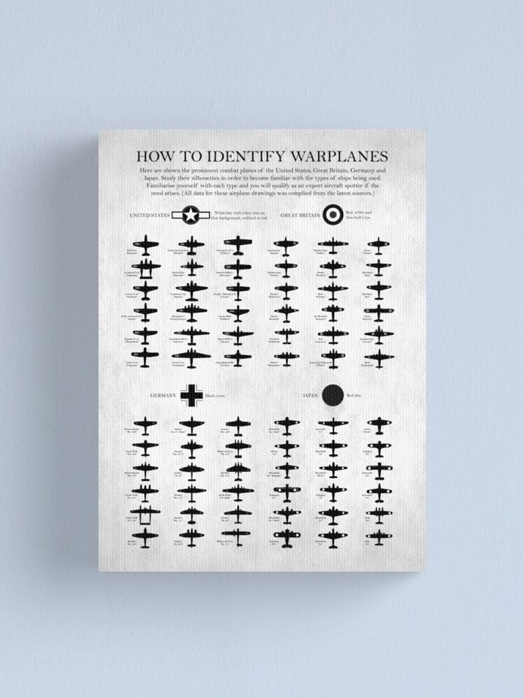 Alternate view of How To Identify Warplanes Canvas Print