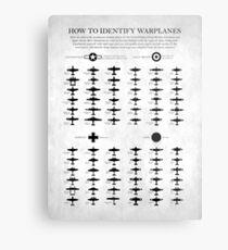 How To Identify Warplanes Metal Print