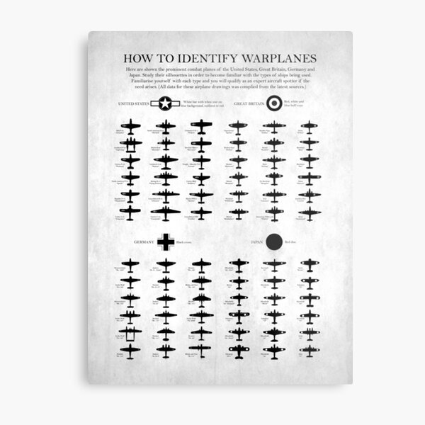 How To Identify Warplanes Metal Print