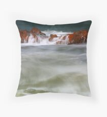 Sun on Hythe Rock Throw Pillow