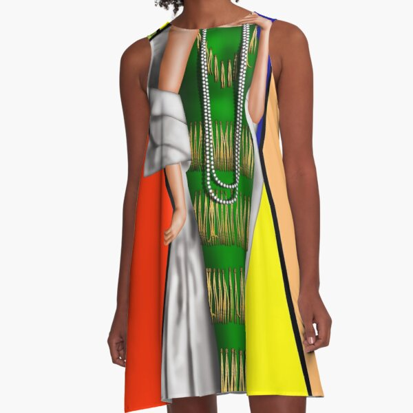 Shout Out to Mr. Picasso A-Line Dress