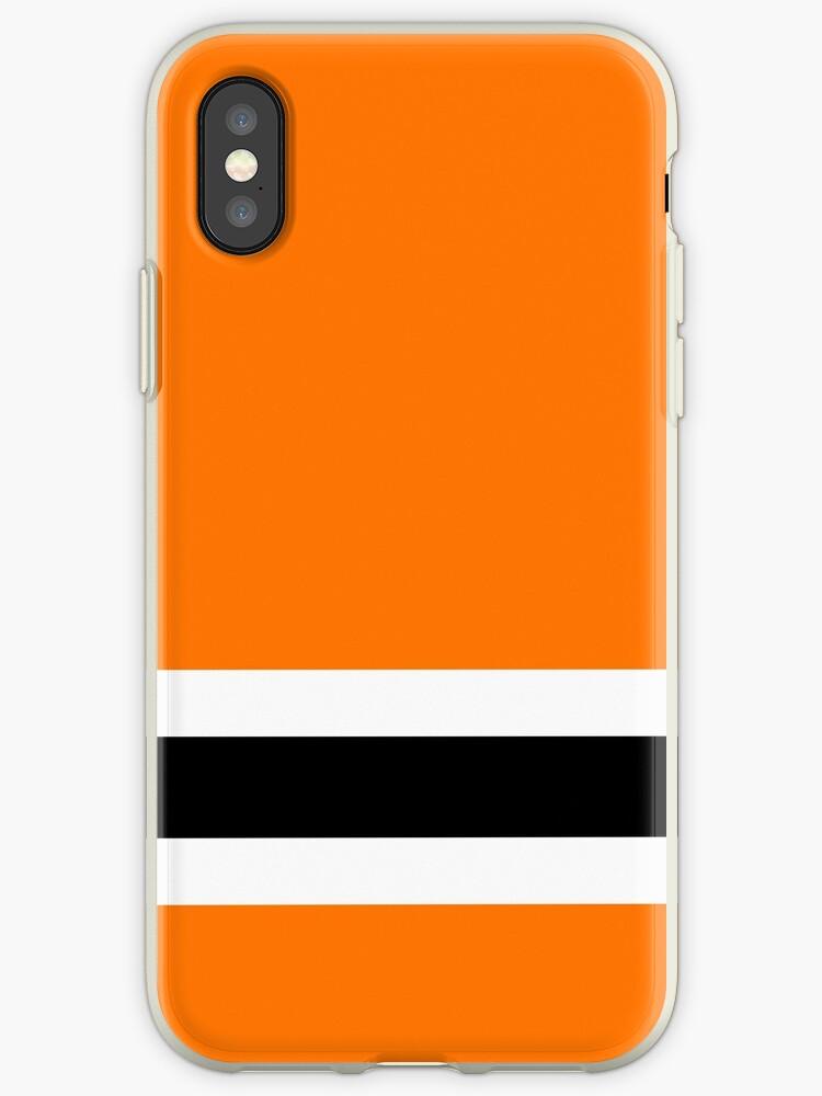 Ice hockey, black, white, orange, Philadelphia, by Loveroflines