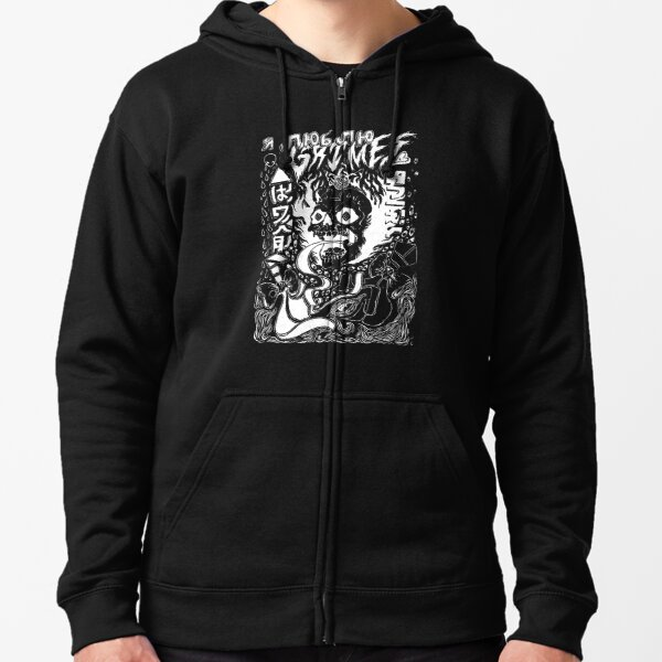 Grimes Visions Inverted Occult Zipped Hoodie
