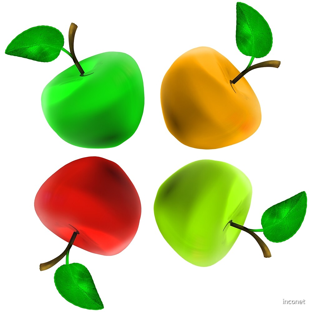 Four multi-colored Apple  by inconet