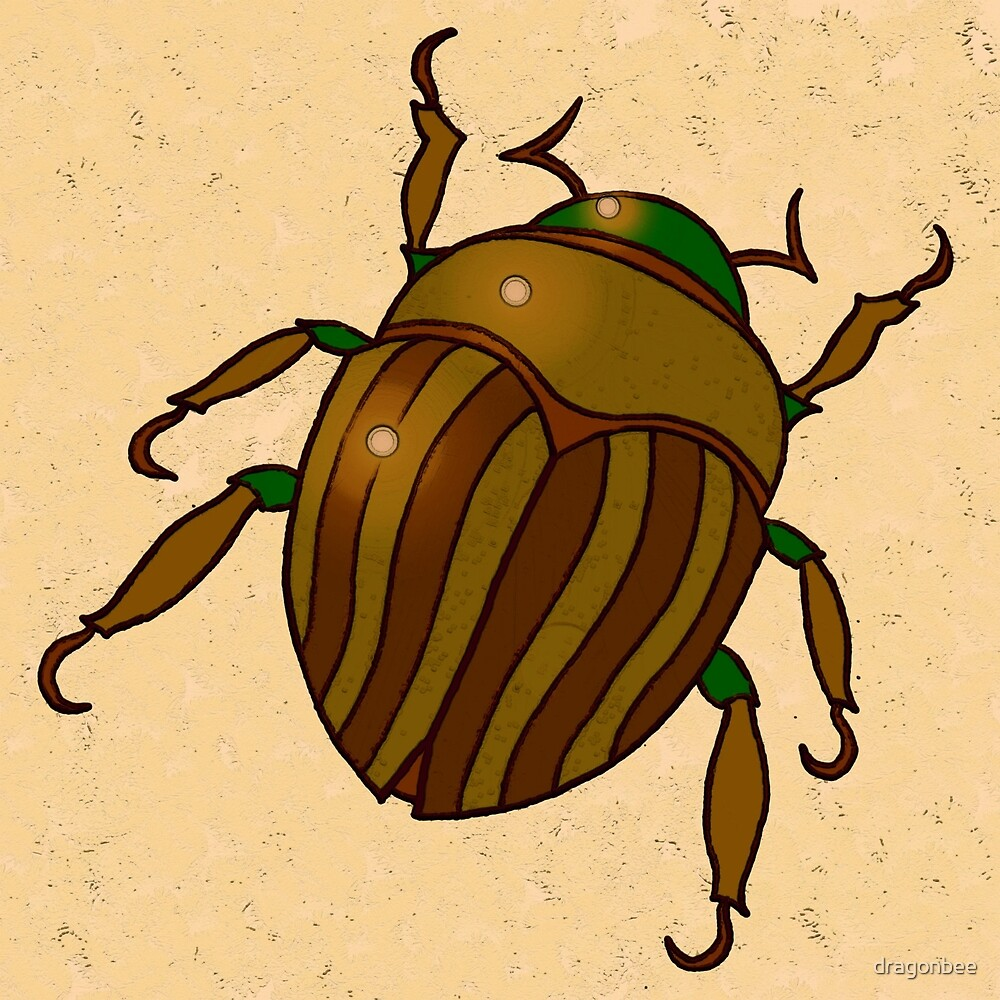 Gold Bug Digital Drawing by dragonbee