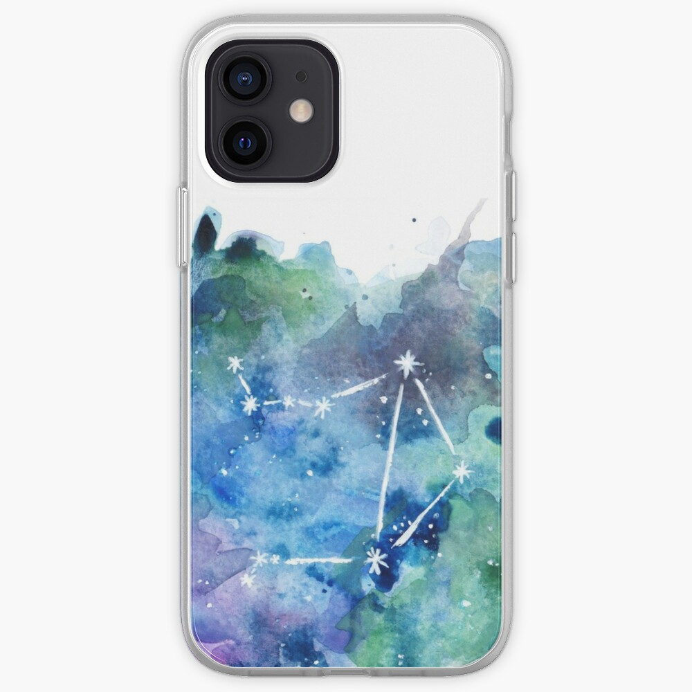 Libra Constellation Watercolor iPhone Case & Cover