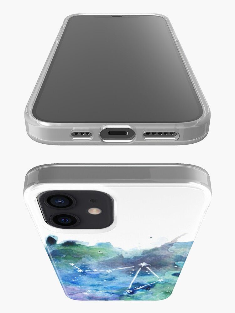 Alternate view of Libra Constellation Watercolor iPhone Case & Cover