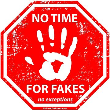 No Fakes Hand Stop Sign by NoTimeForFakes