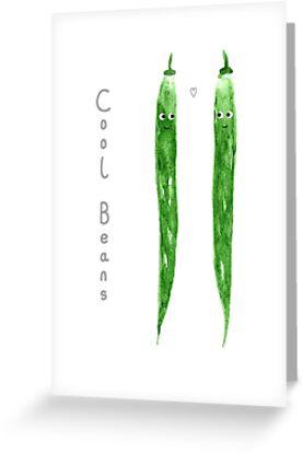 Cool Beans Anniversary Couples Card by yellow-bird