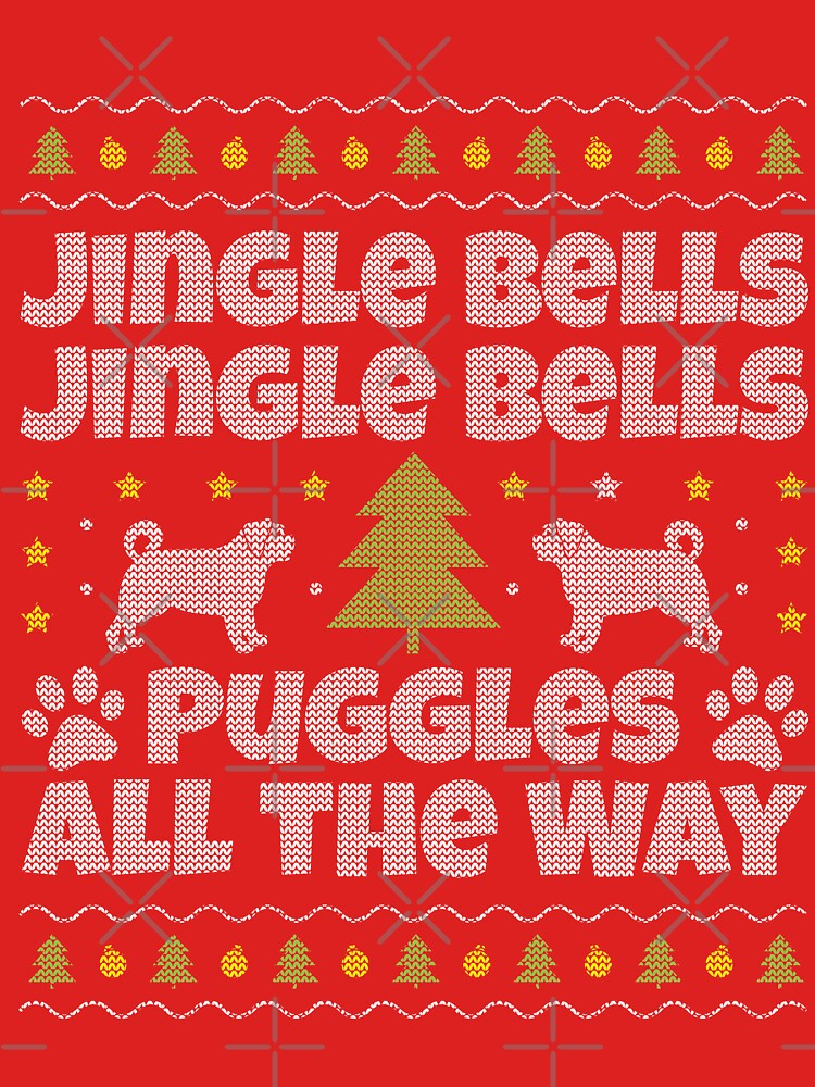 Puggle Ugly Christmas T Shirt by EstelleStar