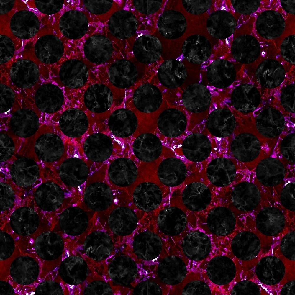 CIRCLES2 BLACK MARBLE & BURGUNDY MARBLE (R) by johnhunternance