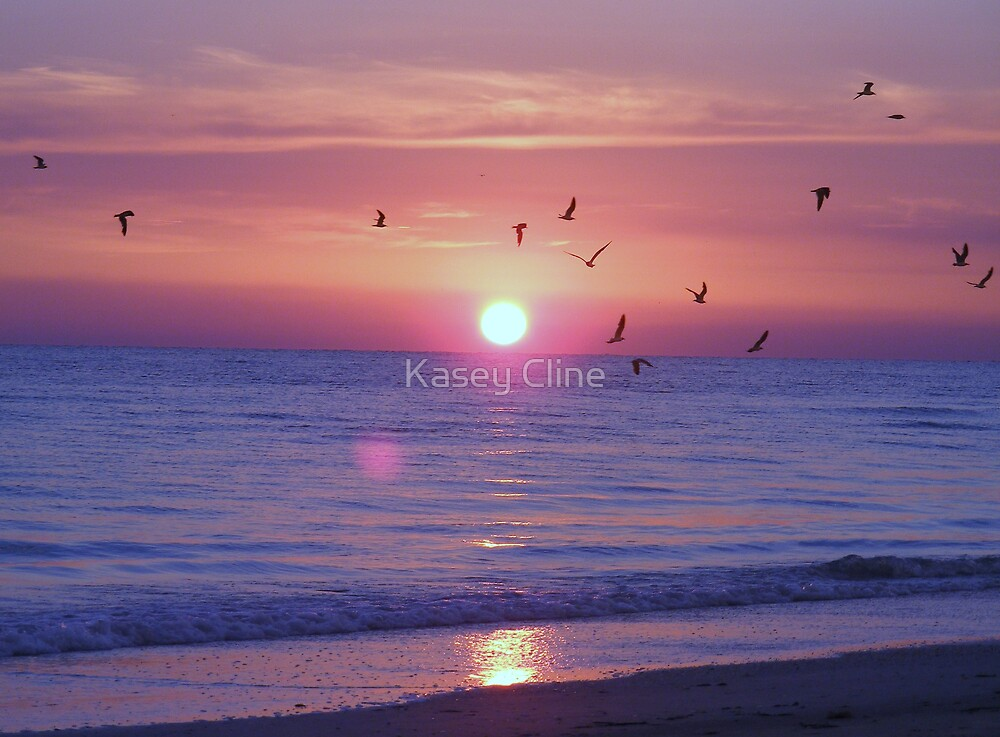 Sunset over the Gulf by Kasey Cline