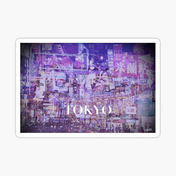 Tokyo collage Sticker