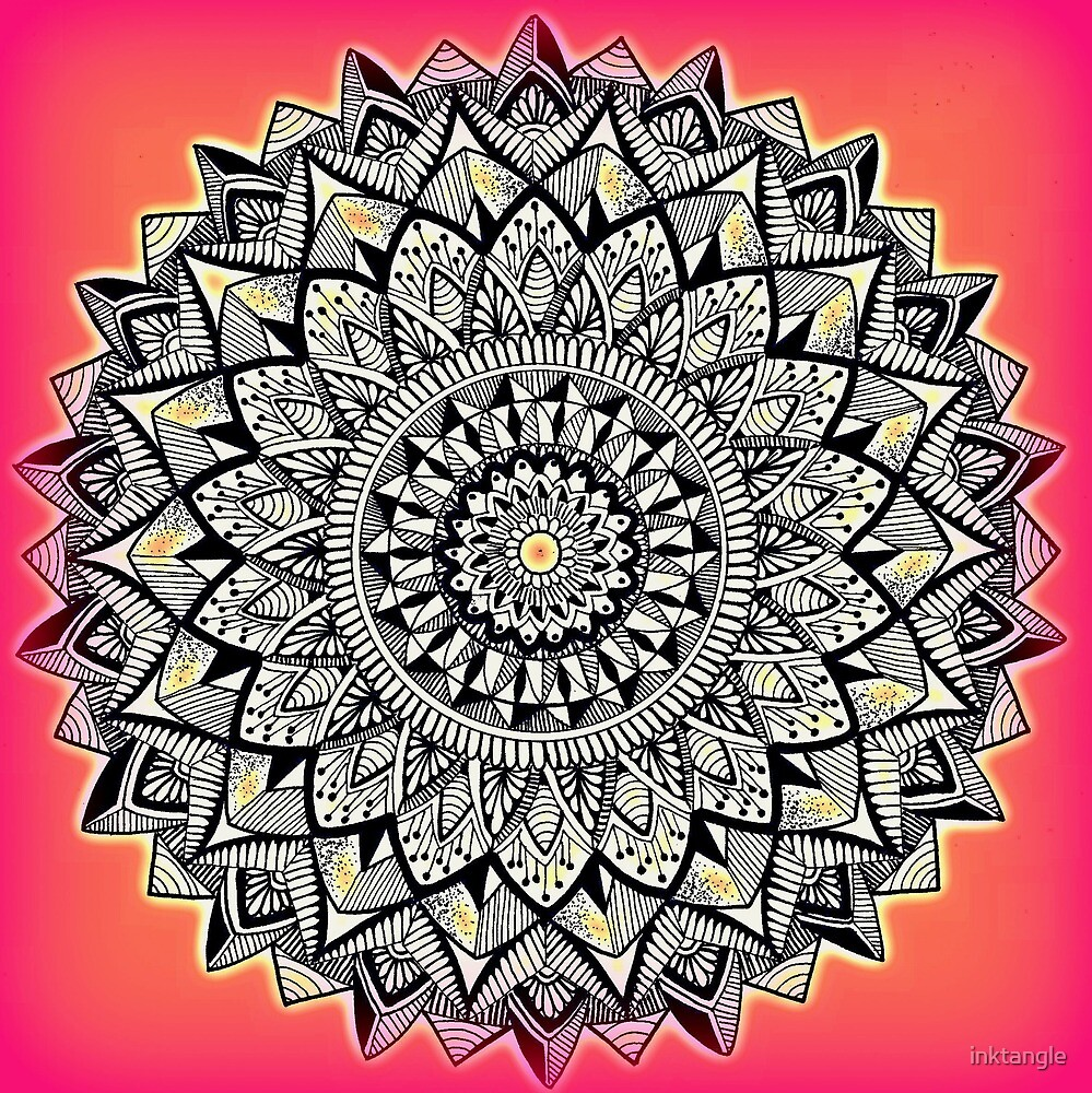 Prosperity Mandala by inktangle