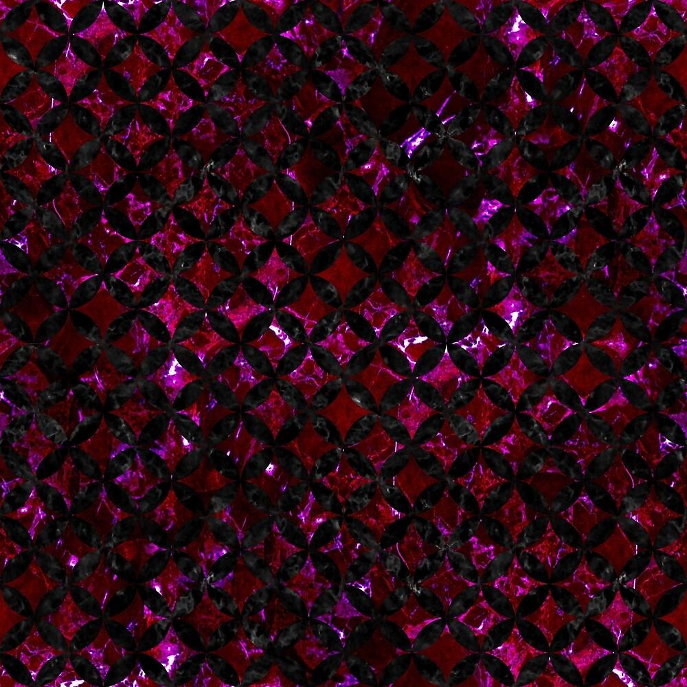 CIRCLES3 BLACK MARBLE & BURGUNDY MARBLE (R) by johnhunternance