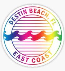 Destin Beach Florida Gradient Emblem Sticker