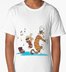 Calvin and Hobbes Dancing Long T-Shirt