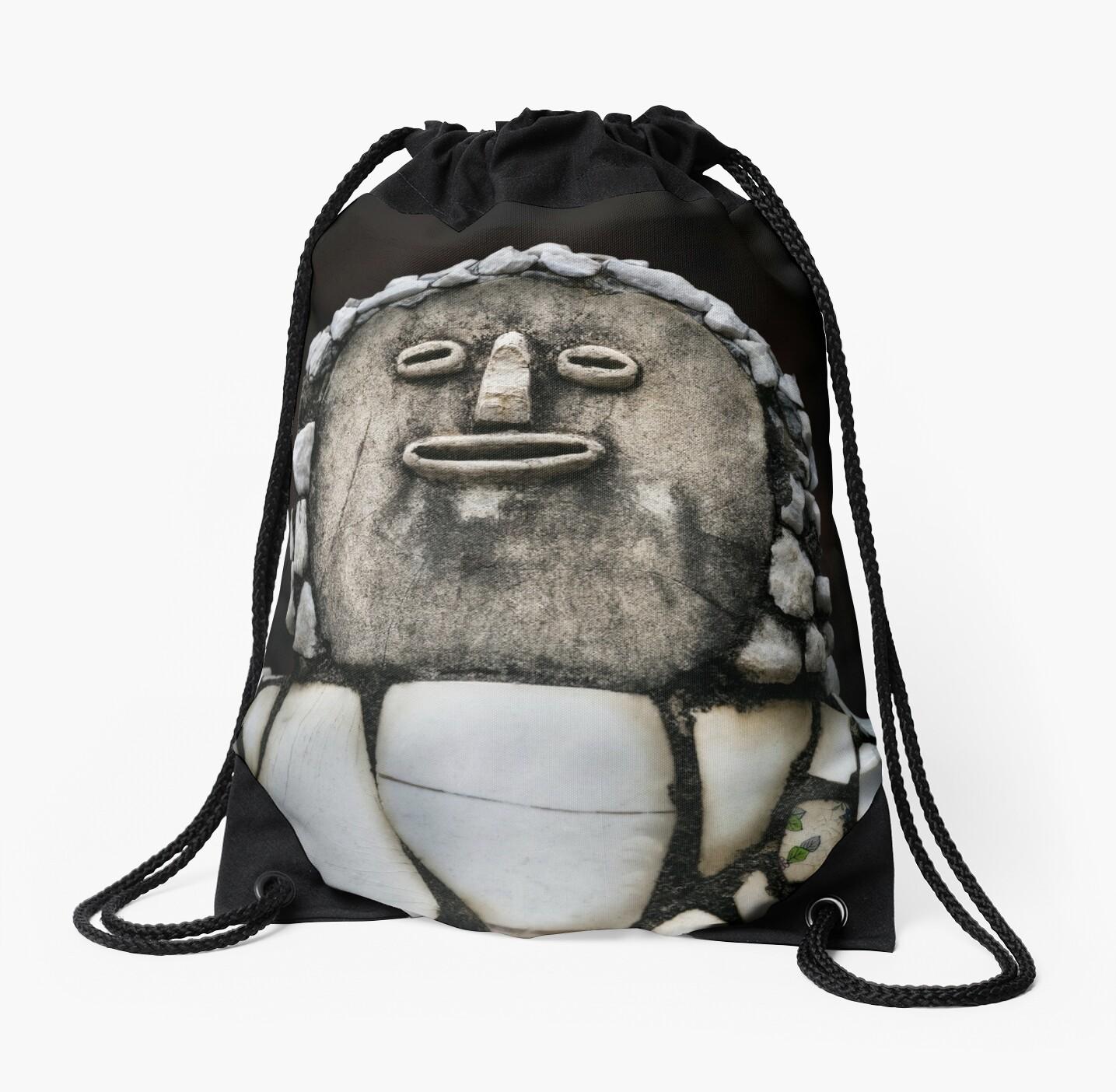 Nek Chand Fantasy 5 - DRAWSTRING BAG by Glen Allison