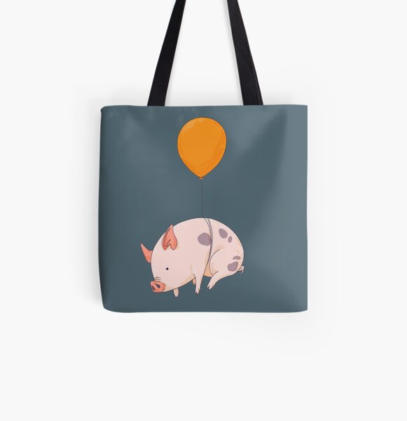 When Pigs Fly All Over Print Tote Bag