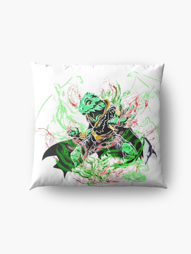 Alternate view of Roleplay Art- Ideo the Dragonborn Floor Pillow