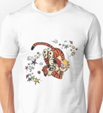 Calvin and Hobbes Wrestling T-Shirt