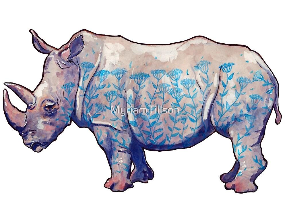 Blooming Rhino (hor) by MyriamTillson