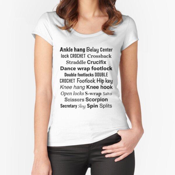 Aerial Silks - Silk Speak - Black design Fitted Scoop T-Shirt