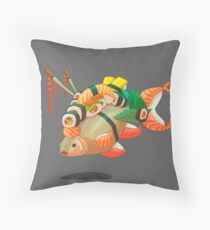 Distressed sushi  Throw Pillow