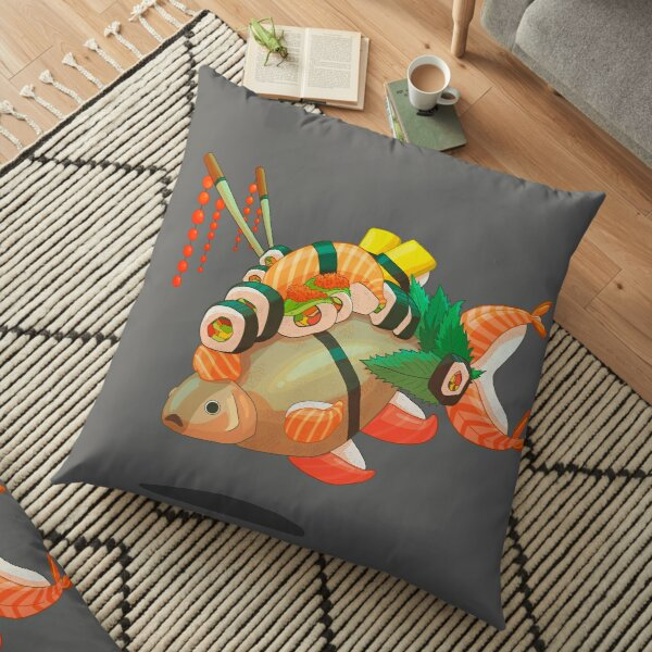 Distressed sushi  Floor Pillow