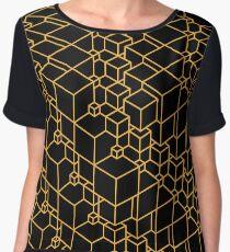 Golden Cubes Women's Chiffon Top