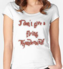 I Don't Give A Flying Thunderbird! Women's Fitted Scoop T-Shirt