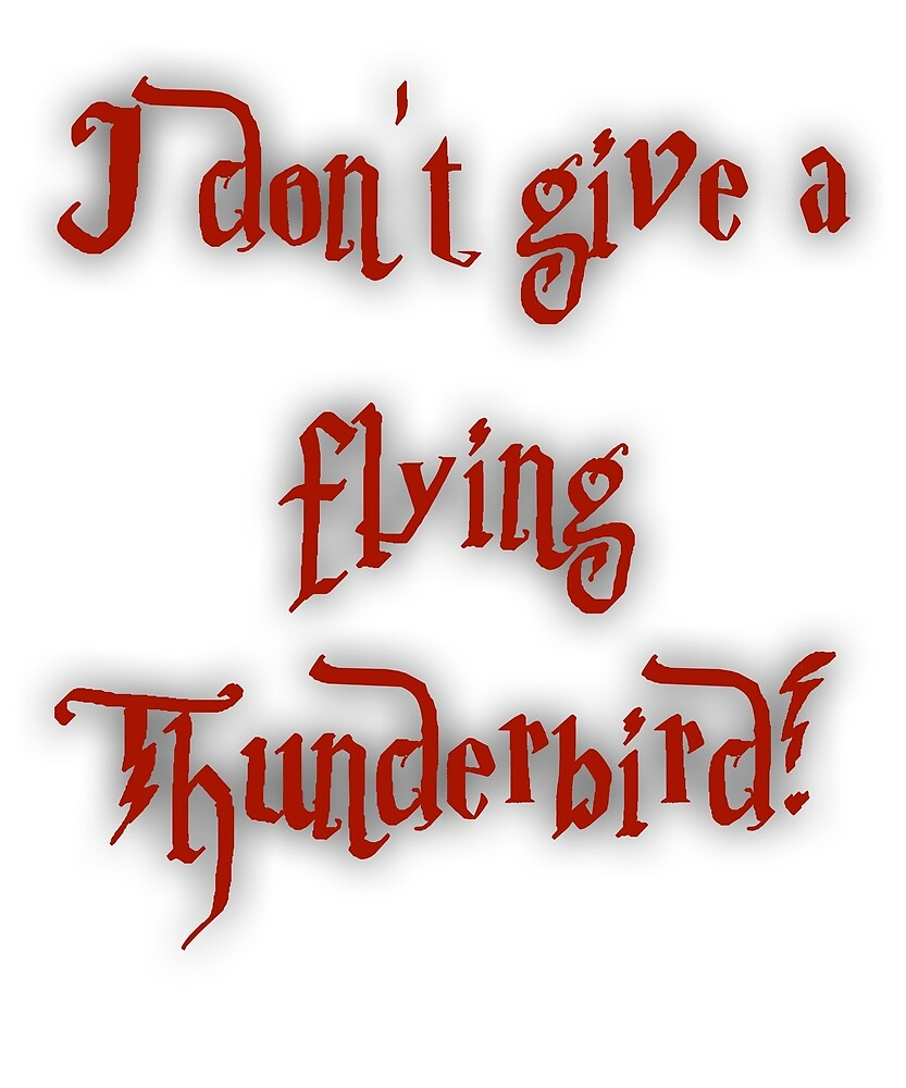 I Don't Give A Flying Thunderbird! by No-Leg-Bones