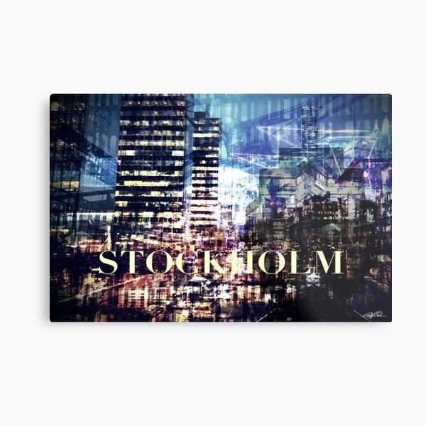 Stockholm collage Metal Print