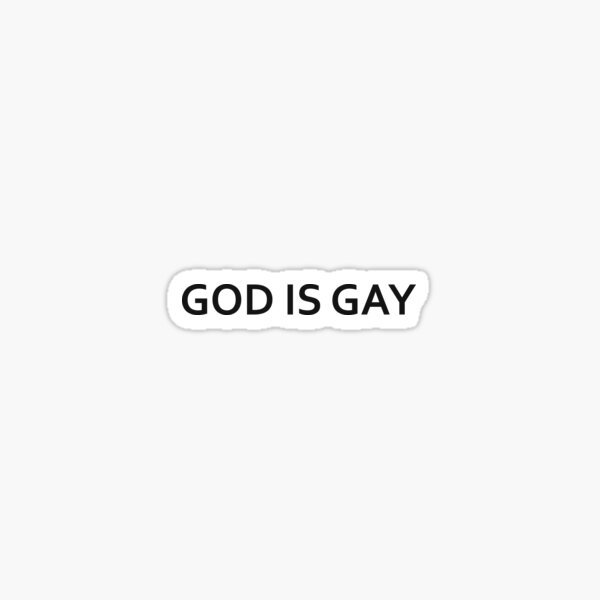 God is Gay - Kurt Cobain Sticker
