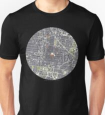 Mexico City map engraving T-Shirt