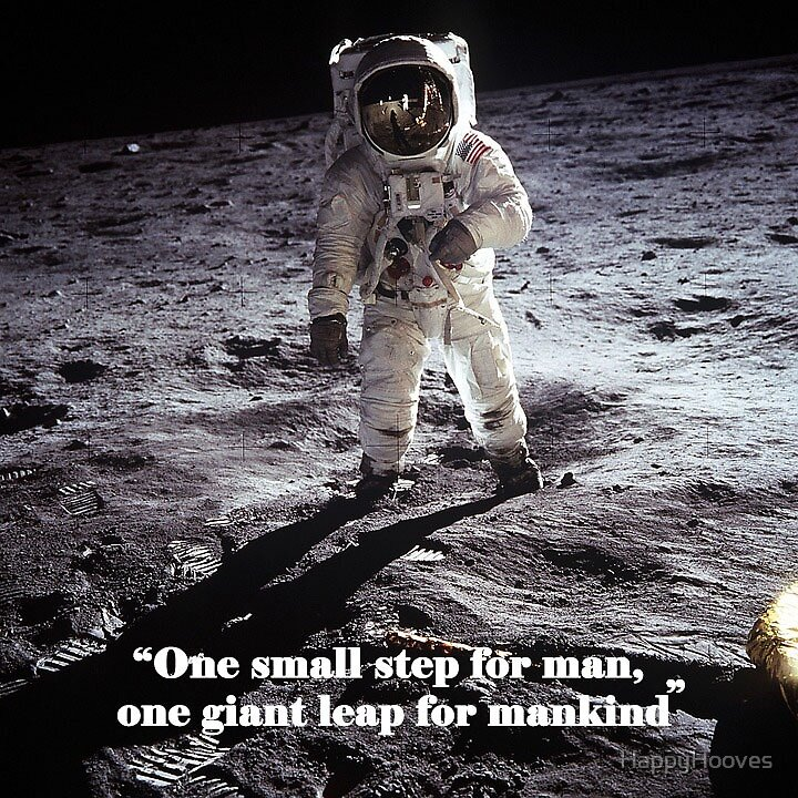 Neil Armstrong quote  by HappyHooves