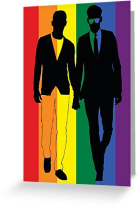 Rainbow Guys - Greeting Card - from Bent Sentiments by bentsentiments