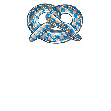 Oktoberfest Bavarian Pretzel Flag Checker by andzoo