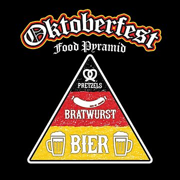 Oktoberfest Food Pyramid Funny T-Shirt by andzoo