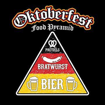 Oktoberfest Food Pyramid Funny T-Shirt by andzoo