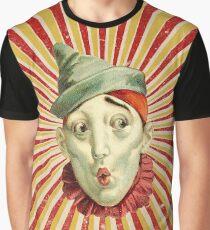 Zirkusclown mit grünem Hut Grafik T-Shirt