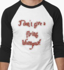 I Don't Give A Flying Wampus! Men's Baseball ¾ T-Shirt