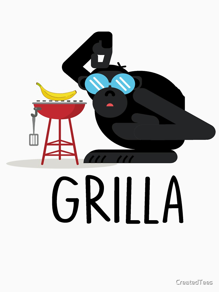 Grilla Pun T Shirt by CreatedTees