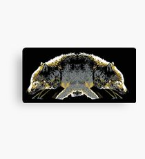 Timber Wolf Logo Style Canvas Print