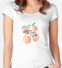 Call Me By Your Name - Peaches Women's Fitted Scoop T-Shirt