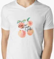 Call Me By Your Name - Peaches Men's V-Neck T-Shirt