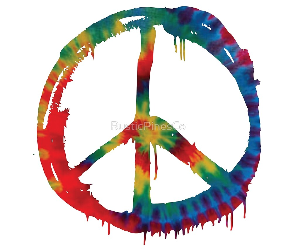 Tie Dye Peace Symbol // Weekend Originals Collection by RusticPinesCo