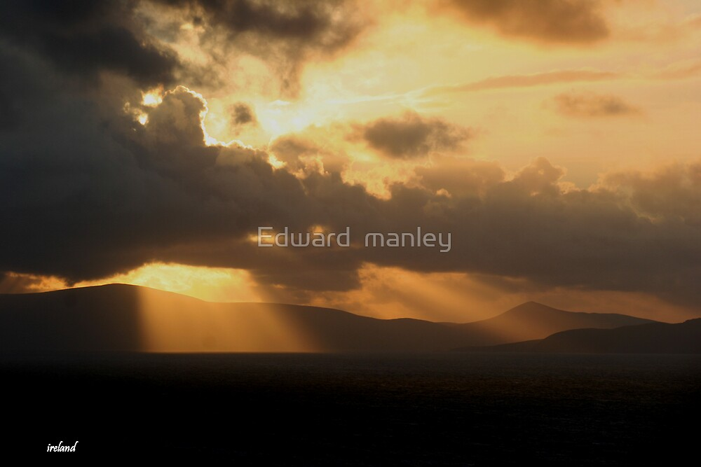 sunset by Edward  manley