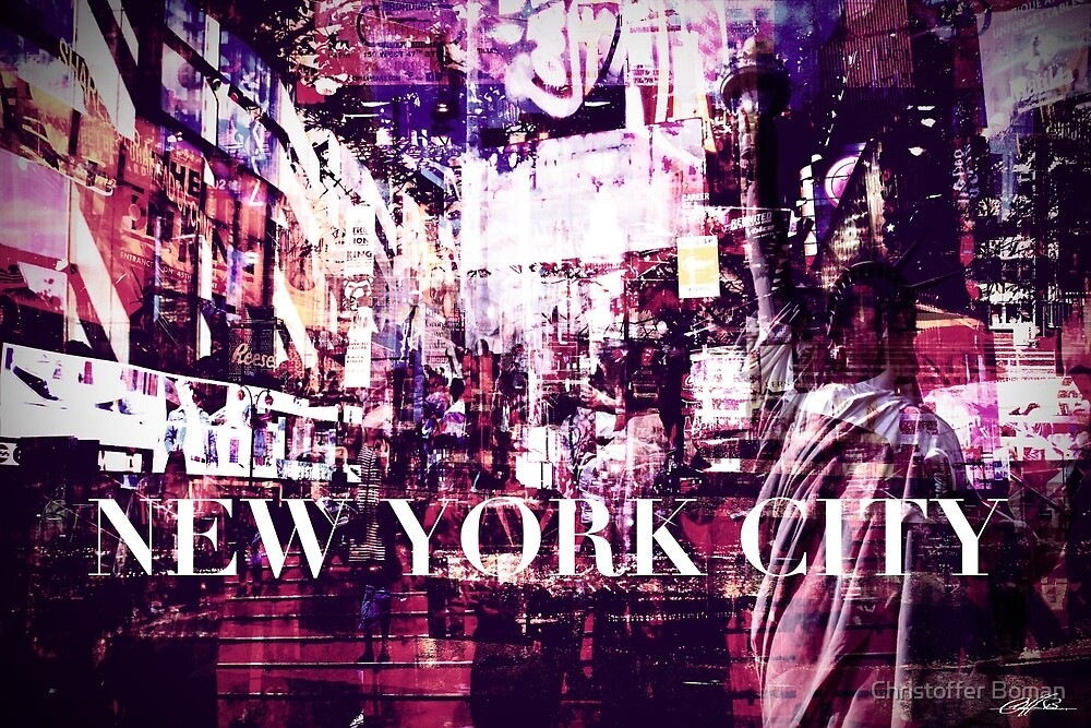 New York City collage by Christoffer Boman