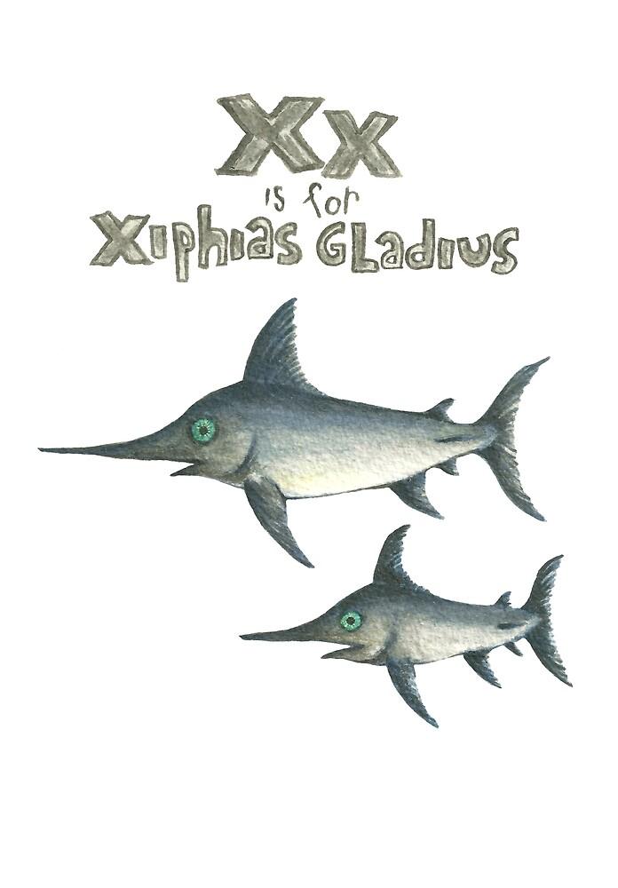 X is for Xiphias gladius by EvijaOga